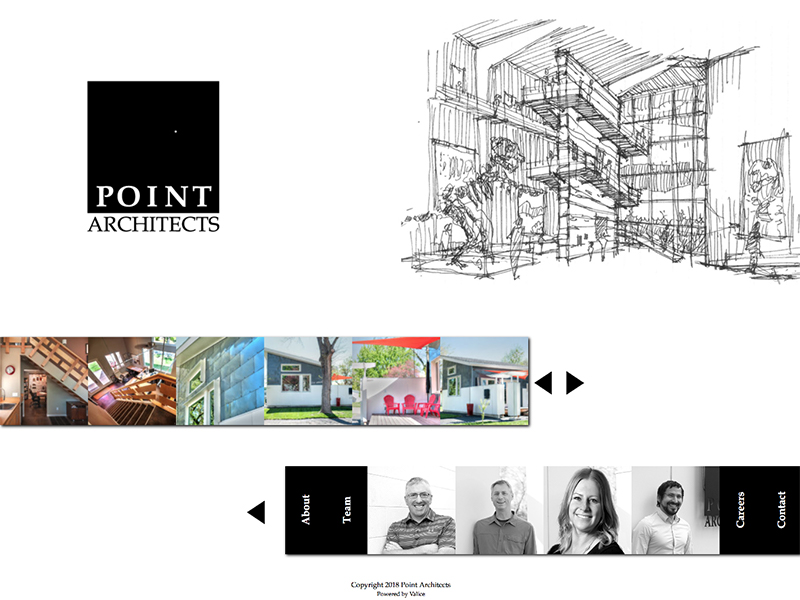 Point Architects website home page