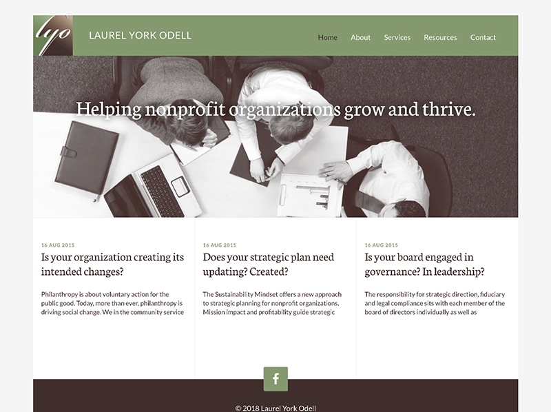 Laurel York Odell website home page