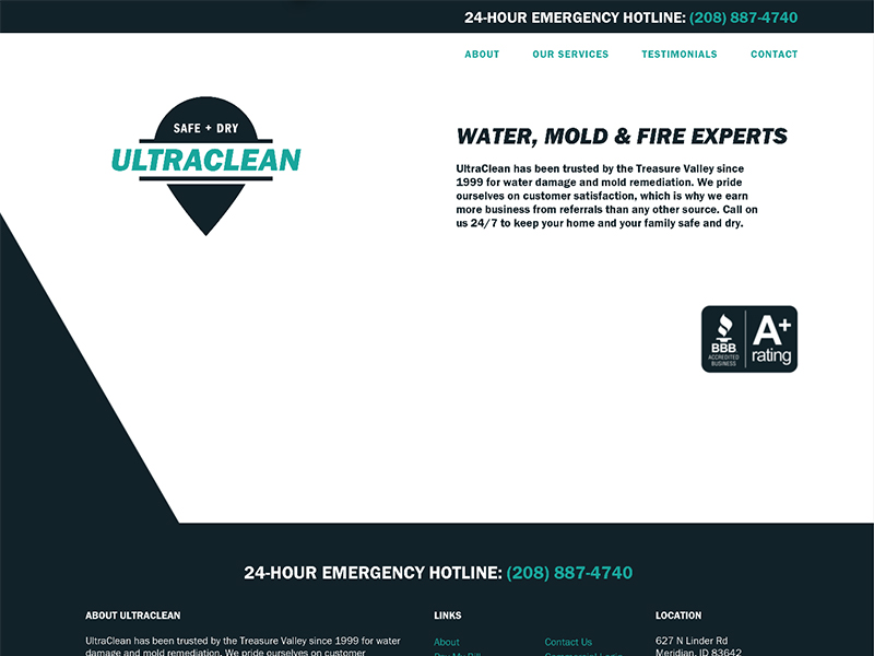 Ultra Clean website home page