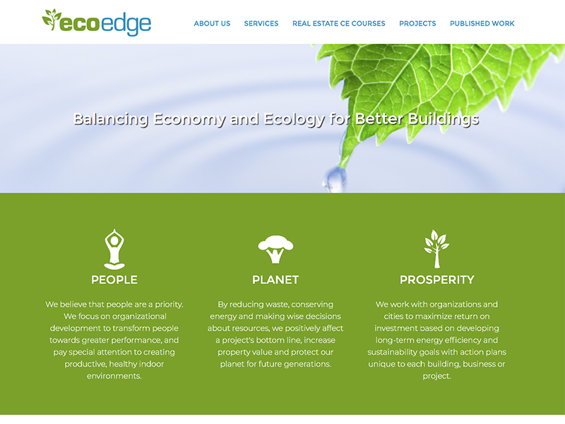 EcoEdge website home page