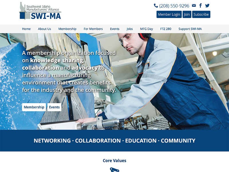 SWI-MA website home page