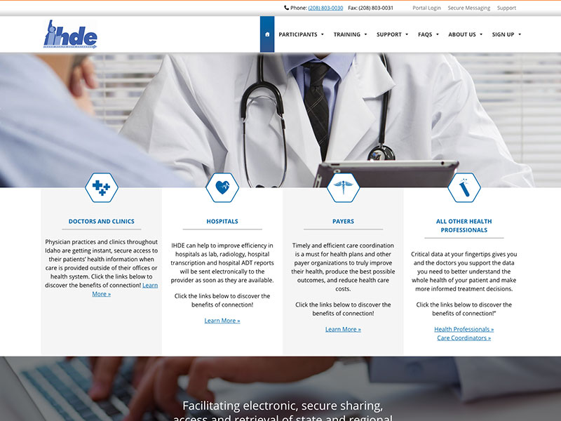 hospital service company website example
