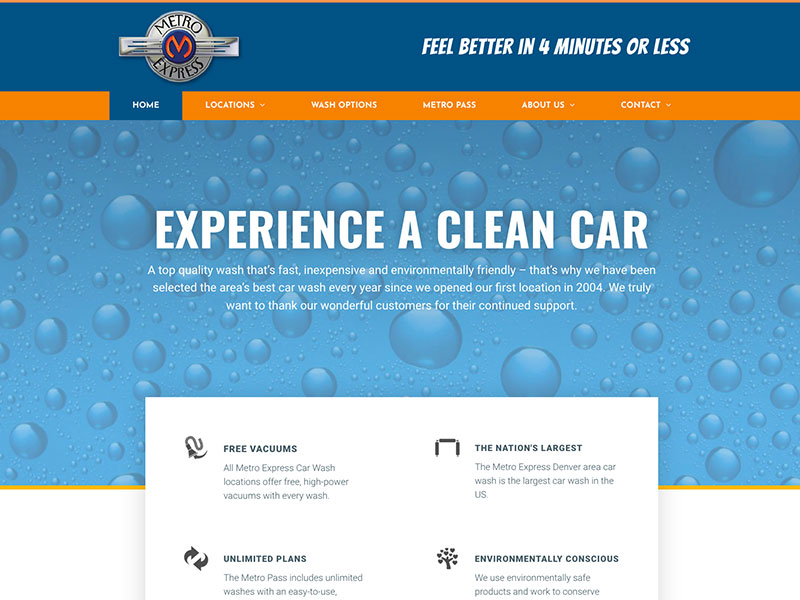 Car wash website example
